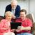 teaching seniors to use tablet pc stock photo © lisafx
