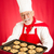 hombre · chef · cookies · blanco · chocolate · cocina - foto stock © lisafx