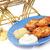 krumpli · palacsinták · tejföl · finom · fehér · tányér - stock fotó © lisafx