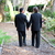 gay wedding couple walking on garden path stock photo © lisafx
