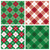 argyle plaid pattern in red and green stock photo © lisann