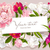 pink red and white peony greeting card stock photo © lisashu