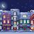 middernacht · stadsgezicht · oude · historisch · huizen · winkels - stockfoto © LisaShu