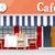 café · rua · espaço · compras · varejo · cidade - foto stock © lisashu