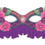 vector ornate colored mardi gras carnival mask with decorative f stock photo © lissantee