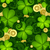 vector seamless floral pattern with decorative clover and gold c stock photo © lissantee