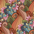 vector · sin · costura · floral · patrón · indio · estilo - foto stock © lissantee