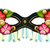 vector ornate mardi gras carnival mask with decorative flowers stock photo © lissantee