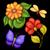 ensemble · insectes · jardin · de · fleurs · fleurs · fond · été - photo stock © lissantee