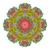 vektor · gyönyörű · színes · körvonal · mandala · dizájn · elem - stock fotó © lissantee