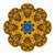 Vector Beautiful Deco Colored contour Mandala stock photo © lissantee