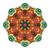 vector beautiful deco colored contour mandala stock photo © lissantee