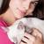 brunette · schoonheid · cute · kitten · portret · mooie - stockfoto © lithian