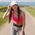 geschikt · behendig · jonge · brunette · vrouw · lopen - stockfoto © lithian