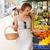 корзины · здорового · великолепный · молодые · брюнетка · женщину - Сток-фото © lithian