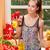 cuoco · bella · giovani · bruna · donna · cibo · sano - foto d'archivio © lithian