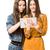 studenten · tablet · mooie · meisjes · school - stockfoto © lithian