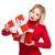 cute festive woman stock photo © lithian