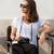 brunette · vrouw · analoog · camera · prachtig · jonge - stockfoto © lithian
