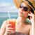 портрет · женщину · соломенной · шляпе · природы · морем · лет - Сток-фото © lithian