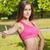 jóvenes · morena · fitness · nina · retrato · mujer - foto stock © lithian