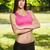 güzel · gülen · genç · kadın · park · bakıyor · kamera - stok fotoğraf © lithian