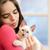 брюнетка · красоту · Cute · котенка · портрет · красивой - Сток-фото © lithian