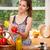 jovem · sorrindo · cozinha · maçã - foto stock © lithian