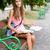 magnifico · giovani · studente · ragazza · parco · ritratto - foto d'archivio © lithian