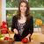 montare · donna · frutti · cucina · felice - foto d'archivio © lithian