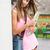 adolescente · caméra · vert · parc · herbe · femmes - photo stock © lithian