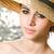 zomervakantie · gevoel · portret · mooie · jonge · brunette - stockfoto © lithian