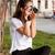 ヴィンテージ · アナログ · カメラ · 革 · 白 - ストックフォト © lithian