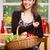 портрет · женщину · фрукты · корзины · кухне - Сток-фото © lithian