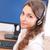 vriendelijk · jonge · kantoor · mooie · vrouw - stockfoto © lithian