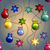 new year pattern with christmas tree toys ball and star beads garland stock photo © littlecuckoo