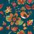 botanikus · kert · madarak · vektor · végtelen · minta · virágmintás · kicsi - stock fotó © littlecuckoo