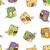夏 · 飾り · オウム · ベクトル · 草 · 自然 - ストックフォト © littlecuckoo