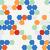 seamless texture of colored hexagon stock photo © littlecuckoo