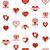 aranyos · rózsaszín · vektor · szívek · textúra · valentin · nap - stock fotó © littlecuckoo