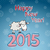 vector 2015 happy new year background in typography style stock photo © littlecuckoo