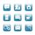 kare · ikon · indirmek · mavi · amblem · yalıtılmış - stok fotoğraf © littlecuckoo
