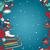 冬 · シームレス · 国境 · ミトン · キャップ · スケート - ストックフォト © littlecuckoo