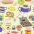tea party with cup of tea and desserts fruits stock photo © littlecuckoo