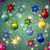 ano · novo · padrão · árvore · de · natal · brinquedos · bola · estrela - foto stock © littlecuckoo
