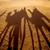 amanecer · desierto · personas · verde · negro · nube - foto stock © lkpro