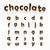 шоколадом · письме · вектора · желтый · темно - Сток-фото © logoff