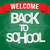 back to school poster with paper text on chalkboard vector illustration stock photo © logoff