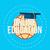 online · oktatás · online · oktatás · Föld · kalap · szöveg - stock fotó © logoff