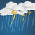 Молния · дождь · облака · Cartoon · стиль · природы - Сток-фото © logoff